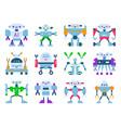 robots cartoon robotic kids toy cute vector image