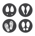 Flat footprint icons set vector image