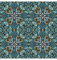 abstract blue tribal geometric print vector image vector image