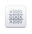 white Tic tac toe icon Eps10 Easy to edit vector image