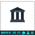Bank icon flat vector image