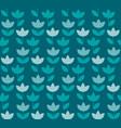 elegant blue color holland tulip repeatable motif vector image vector image