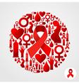 AIDS icon set vector image