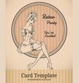 retro pin-up woman vector image