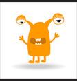cute monster kids logo monster set vector image