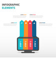 colorful computer monitor business infographics vector image