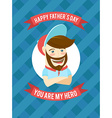 Festive typographical retro style greeting card vector image