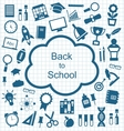 Kit of Education Flat Simple Icons vector image