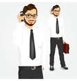 modern hipster businessman talking on the phone vector image vector image