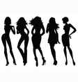 women silhouettes vector image vector image