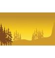 Beautiful landscape spruce vector image