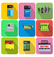 colorful charging devices set vector image