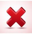cross symbol wrong vector image
