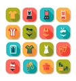 flat fashion clothes icons vector image