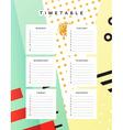 Planner calendar Schedule the week abstract design vector image