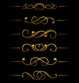 Vintage ornamental embellishments vector image