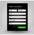 Registration web site form vector image