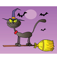 Halloween cartoon cat vector image