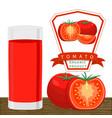 the theme tomato vector image
