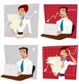 business crisis vector image vector image