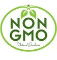 Non GMO Natural Goodness vector image