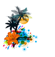 colorful summer vector image