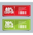 Coupon design sale icon shopping concept vector image