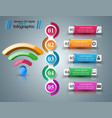 business infographics wi-fi icon vector image