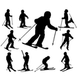 children skiing vector image