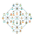 Connecting people icons set isolated on white vector image