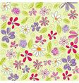 Floral background easter vector image