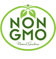 Non GMO Natural Goodness vector image
