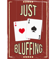 poker bluf vector image