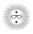 seal style hipster icon vector image