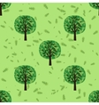 Seamless pattern with oak forest trees vector image