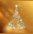 shiny christmas tree holiday template eps 10 vector image