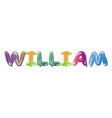william male name text balloons vector image