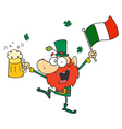 Drunk Leprechuan vector image