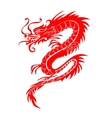 Red paper cut out of a Dragon china zodiac symbols vector image