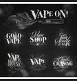 vape symbols chalk vector image