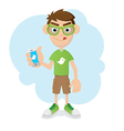 Geek boy vector image vector image