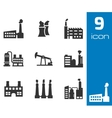 black factory icons set vector image vector image