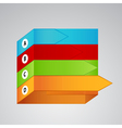 four different color labels with arrows vector image