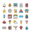 hotel and travel colored icons set 5 vector image