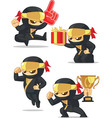 Ninja Customizable Mascot 17 vector image