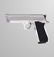 Realistic of a silver handgun vector image