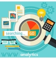 Searching Analytics Concept vector image