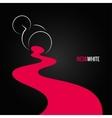 spilled wine glass design background vector image