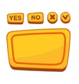 UI Buttons Set for Agreement Panel in Cartoon vector image