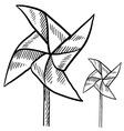 doodle pinwheel vector image